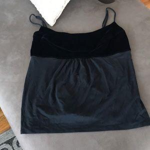 Ann Taylor cotton camisole w/ black velvet bust